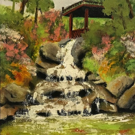 (CreativeWork) Running Water by Denise Park. Acrylic Paint. Shop online at Bluethumb.