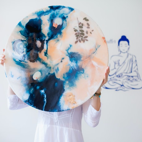 (CreativeWork) The Moon by Galina Nistor. Resin. Shop online at Bluethumb.
