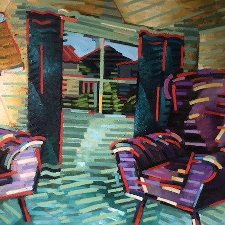 (CreativeWork) Inside Out by D.M. (David Martin) Ross. Oil Paint. Shop online at Bluethumb.