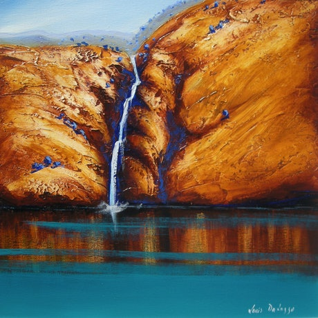 (CreativeWork) Beehive Falls Kimberley's by Louis Dalozzo. Acrylic Paint. Shop online at Bluethumb.