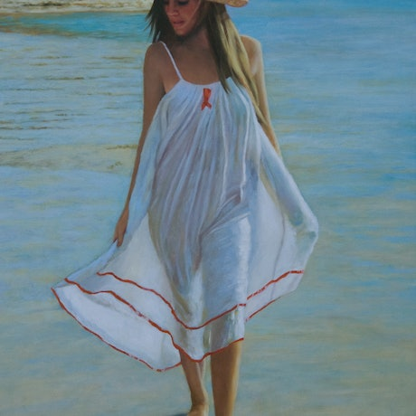 (CreativeWork) A Summer Morning by Craig Taylor. Oil Paint. Shop online at Bluethumb.