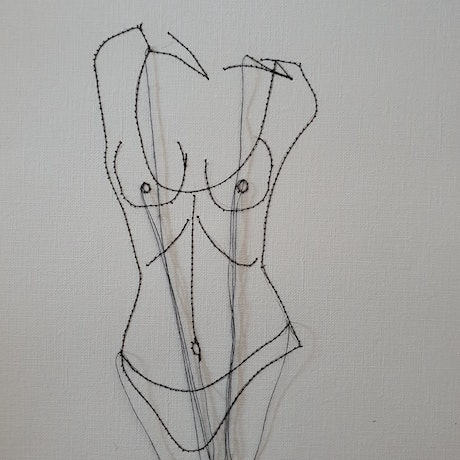 (CreativeWork) Sheer body by Jasmine Radakovic. Drawings. Shop online at Bluethumb.