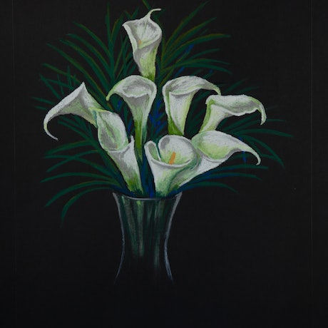 (CreativeWork) Lilies Ed. 1 of 50 by Julie Debray. Print. Shop online at Bluethumb.