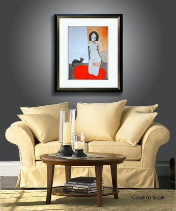 (CreativeWork) Red Water by Max Horst  Sokolowski. Mixed Media. Shop online at Bluethumb.