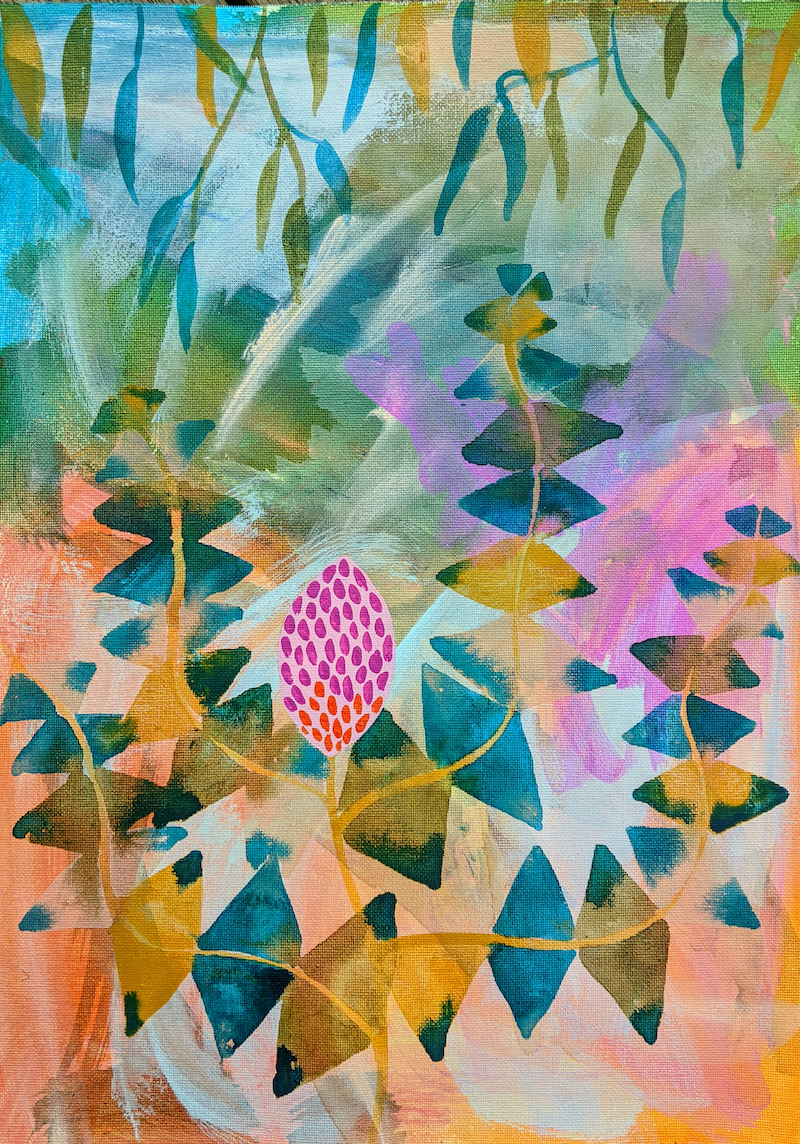 (CreativeWork) Banksia Soul - Framed by Marinka Parnham. Acrylic Paint. Shop online at Bluethumb.