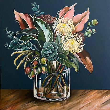 (CreativeWork) Gathered by Emma Nancarrow. Acrylic Paint. Shop online at Bluethumb.