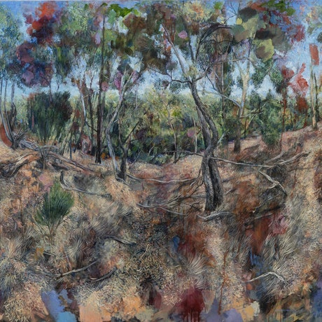 (CreativeWork) Looking down from the spur by Marco Corsini. Oil Paint. Shop online at Bluethumb.