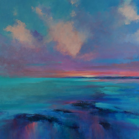 (CreativeWork) Only A Daydream Away by Sandra Michele Knight. Oil Paint. Shop online at Bluethumb.