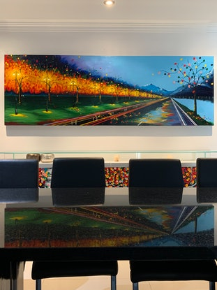 (CreativeWork) Fast Lane by Tom Roso. Acrylic Paint. Shop online at Bluethumb.