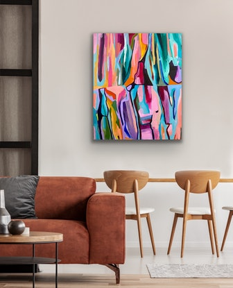 (CreativeWork) Wonders and things to do by Laura Oczos. Acrylic. Shop online at Bluethumb.