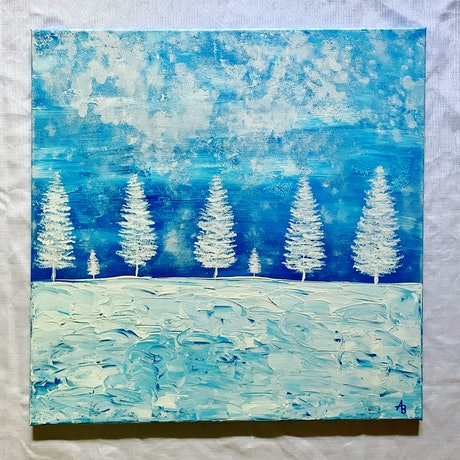 (CreativeWork) Winter Wonderland by Abigail Beck. Acrylic Paint. Shop online at Bluethumb.