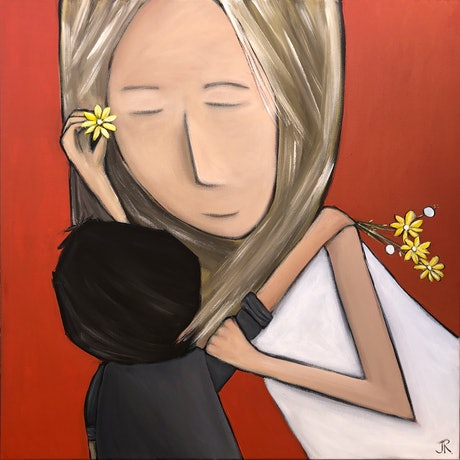 (CreativeWork) Love Series #12 - Flowers for Mum #2 by Julie Robertson. Acrylic Paint. Shop online at Bluethumb.