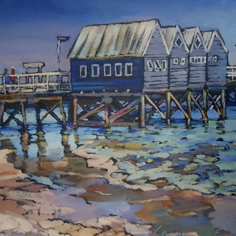 (CreativeWork) Busselton Jetty by Carmen McFaull. Other Media. Shop online at Bluethumb.