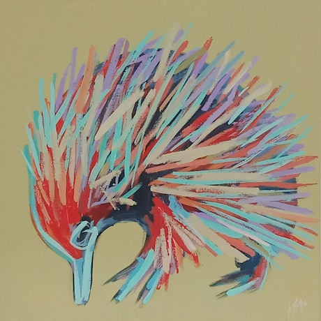 (CreativeWork) SPIKE by Karen McPhee. Acrylic Paint. Shop online at Bluethumb.