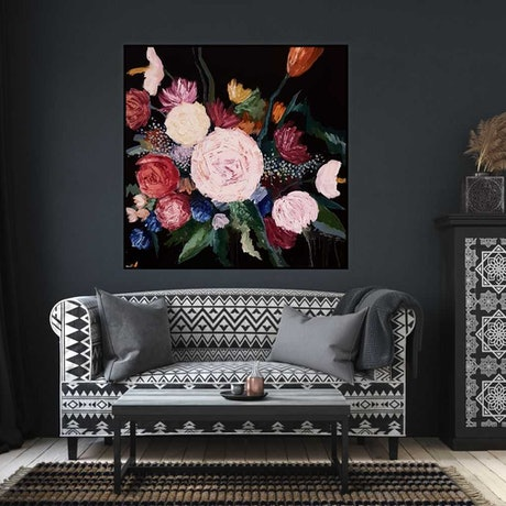 (CreativeWork) Roses and you by Amy Kim. Acrylic Paint. Shop online at Bluethumb.