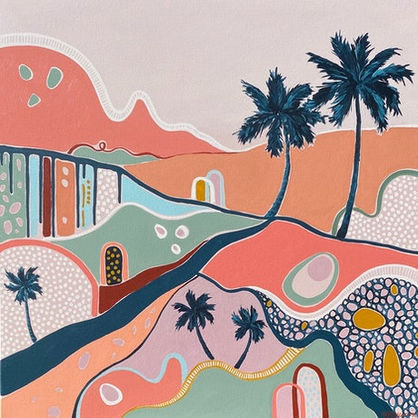 (CreativeWork) Terra Tropics by Emma Nancarrow. Acrylic Paint. Shop online at Bluethumb.