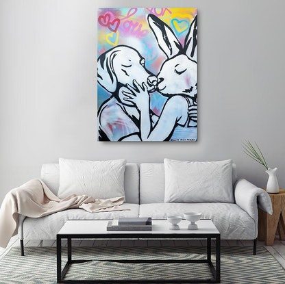 (CreativeWork) His kiss was amazing by Gillie and Marc Schattner. Other Media. Shop online at Bluethumb.