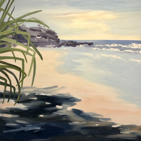 (CreativeWork) Yaroomba Beach by Meredith Howse. Acrylic Paint. Shop online at Bluethumb.
