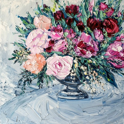 (CreativeWork) Then I Met You by Angela Hawkey. Oil. Shop online at Bluethumb.