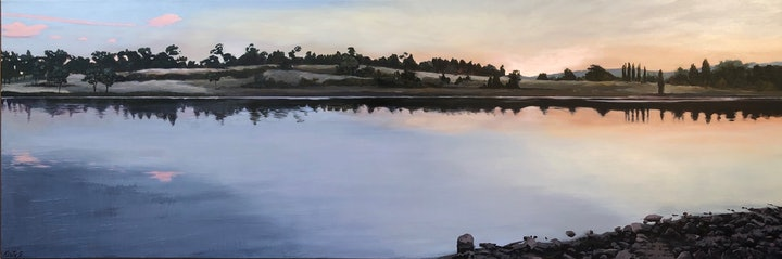 (CreativeWork) The Evening Quiet by Kirsty Gautheron. Acrylic Paint. Shop online at Bluethumb.