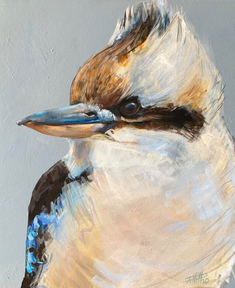(CreativeWork) Country Visitor by Rebecca Hill. Acrylic Paint. Shop online at Bluethumb.