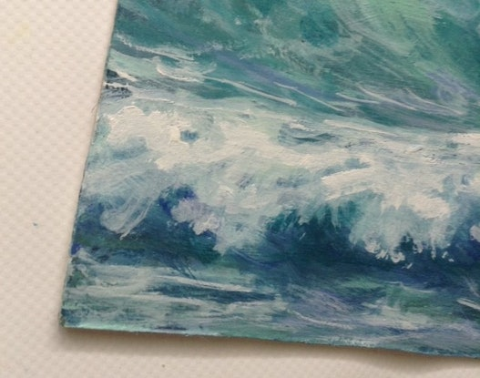 (CreativeWork) Rolling Surf by Anne Strambi. Oil Paint. Shop online at Bluethumb.