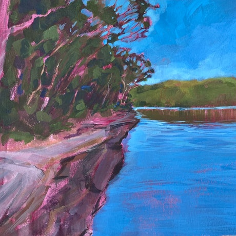 (CreativeWork) Secret Spot by Kate Gradwell. Acrylic Paint. Shop online at Bluethumb.