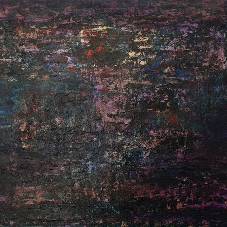 (CreativeWork) Opal Lights by Ric Connors. Acrylic Paint. Shop online at Bluethumb.