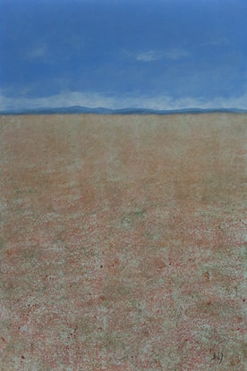 (CreativeWork) The Middle Of Nowhere by Barry Johnson. Acrylic Paint. Shop online at Bluethumb.