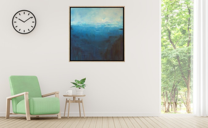 (CreativeWork) Blue Horizon by Gareth Butcher. Acrylic Paint. Shop online at Bluethumb.