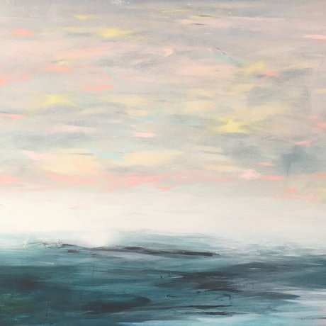 (CreativeWork) Infinity Bay  by helene hardy. Acrylic Paint. Shop online at Bluethumb.