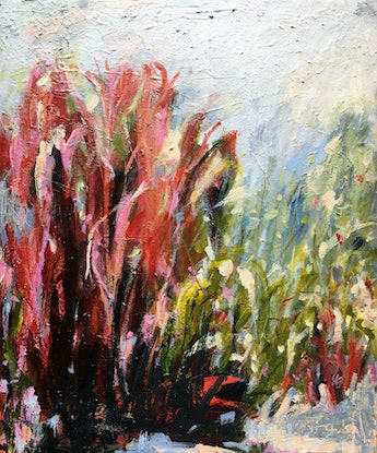 (CreativeWork) Wanderlust by Nicole Fearfield. Acrylic Paint. Shop online at Bluethumb.