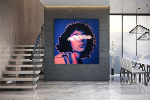 (CreativeWork) Portrait of a song  by Angi Dlapiu. Other Media. Shop online at Bluethumb.