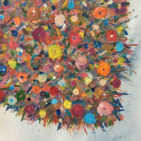 (CreativeWork) Burst by mitch elson. Acrylic Paint. Shop online at Bluethumb.