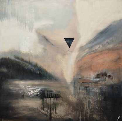 (CreativeWork) Triangulated Peace by Ryan Findlay. Oil Paint. Shop online at Bluethumb.