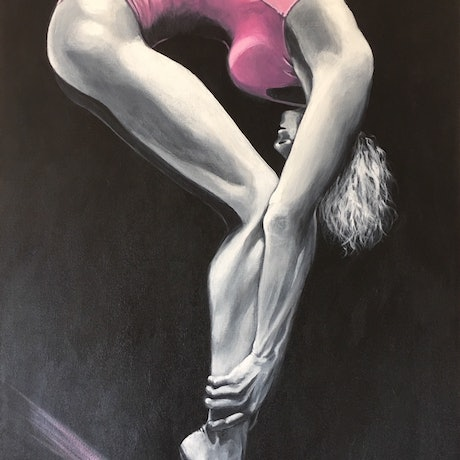 (CreativeWork) Strength and Balance by Kathryn Johnston. Acrylic Paint. Shop online at Bluethumb.