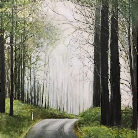 (CreativeWork) GREEN SOLACE by LOUISE GROVE WIECHERS. Acrylic Paint. Shop online at Bluethumb.