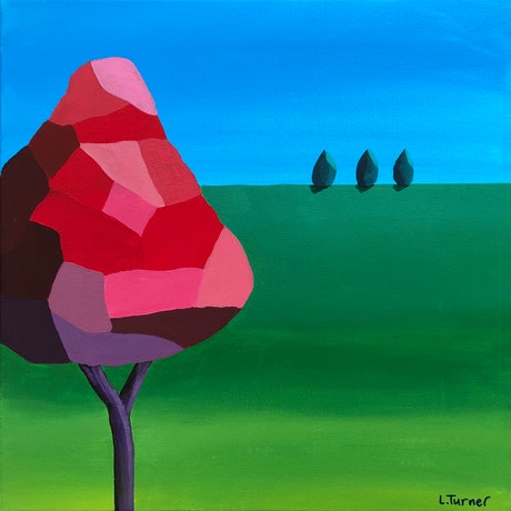 (CreativeWork) I See Red - STUDIO CLEARANCE SALE - Was $440 Now $350 by Lisa Turner. Acrylic Paint. Shop online at Bluethumb.
