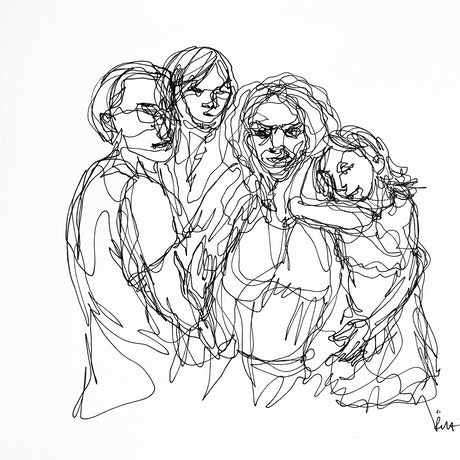 (CreativeWork) Don't Let Go - Family by Irma Calabrese. Drawings. Shop online at Bluethumb.