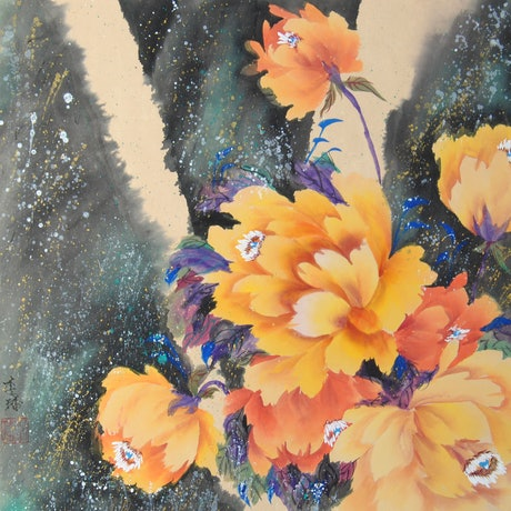 (CreativeWork) Hygge [Atmosphere of Warmth] by Jade Li. Watercolour Paint. Shop online at Bluethumb.