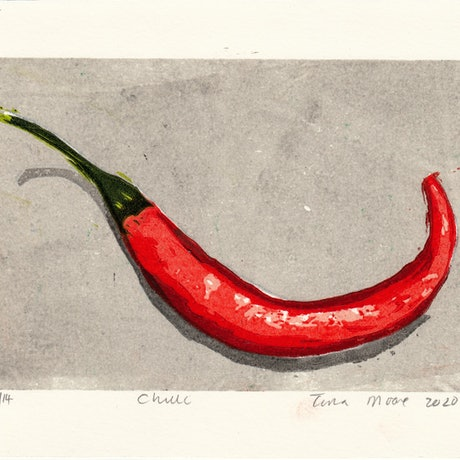 (CreativeWork) Chilli Ed. 1 of 2 by Tina Moore. Print. Shop online at Bluethumb.