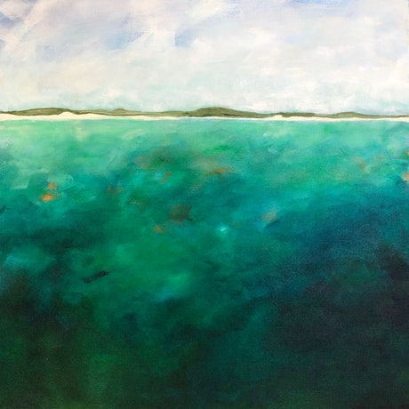 (CreativeWork) Anchorage Bay by Annabelle Brockman. Acrylic Paint. Shop online at Bluethumb.