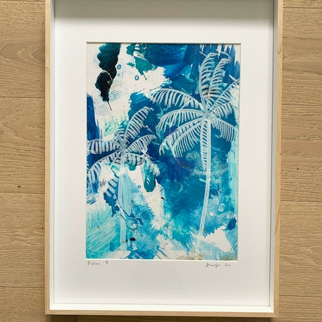 (CreativeWork) Palms 5. by Jennifer Lia. Acrylic Paint. Shop online at Bluethumb.