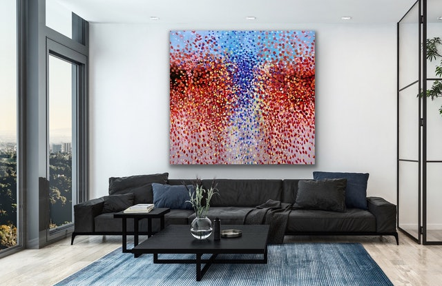 (CreativeWork) Waterfall of Petals  by Theo Papathomas. Oil Paint. Shop online at Bluethumb.