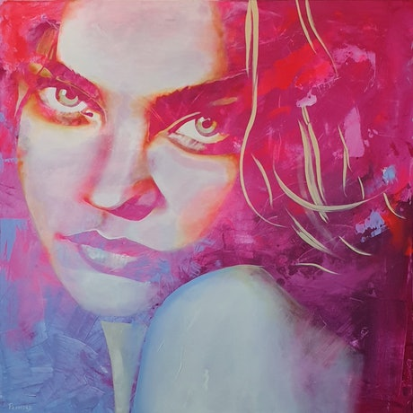 (CreativeWork) I See You by Holly Playford. Acrylic Paint. Shop online at Bluethumb.