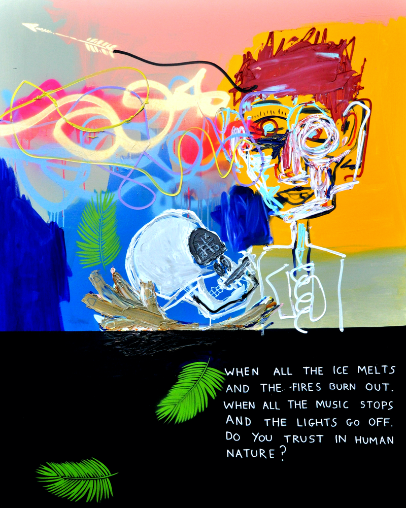 (CreativeWork) Fire + Ice (part 3) by Cameron Holmes. Mixed Media. Shop online at Bluethumb.