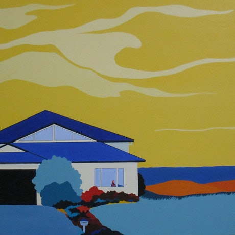 (CreativeWork) House of Daydreams   by Marian Quigley. Acrylic Paint. Shop online at Bluethumb.