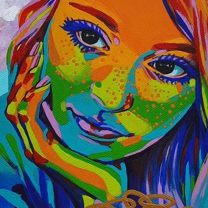 (CreativeWork) Fool's Gold on Rainbow Road by Pascale Garlinge. Acrylic Paint. Shop online at Bluethumb.