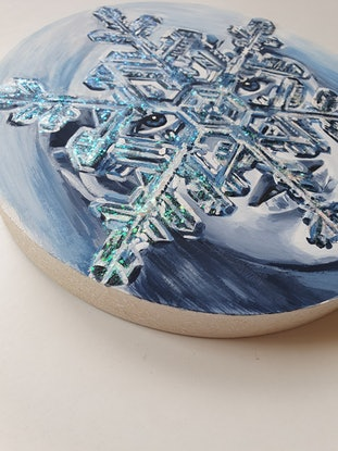 (CreativeWork) Alpine Ice Baby by Pascale Garlinge. Acrylic Paint. Shop online at Bluethumb.