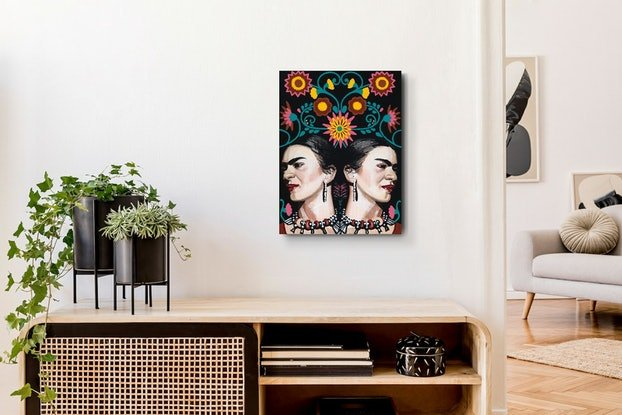 (CreativeWork) Kahlodoscope Love by Pascale Garlinge. Acrylic Paint. Shop online at Bluethumb.